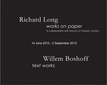 Richard Long and Willem Boshoff